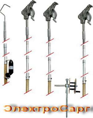 комплект штанг для заземлении воздушных линий,  КШЗ-10М, КШЗ 10, КШЗ10, КШЗ10М, КШЗ 10 М, штанга заземляющая